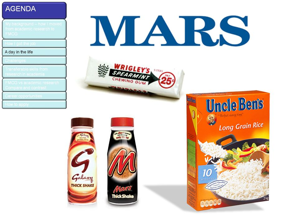 Main meal and Care & Treats A three-site, multi-technology European business Care and Treats as a business segment is growing – Mars owns leading brands in each category An expandable business area (shows year on year growth) so interesting and exciting to work in!
