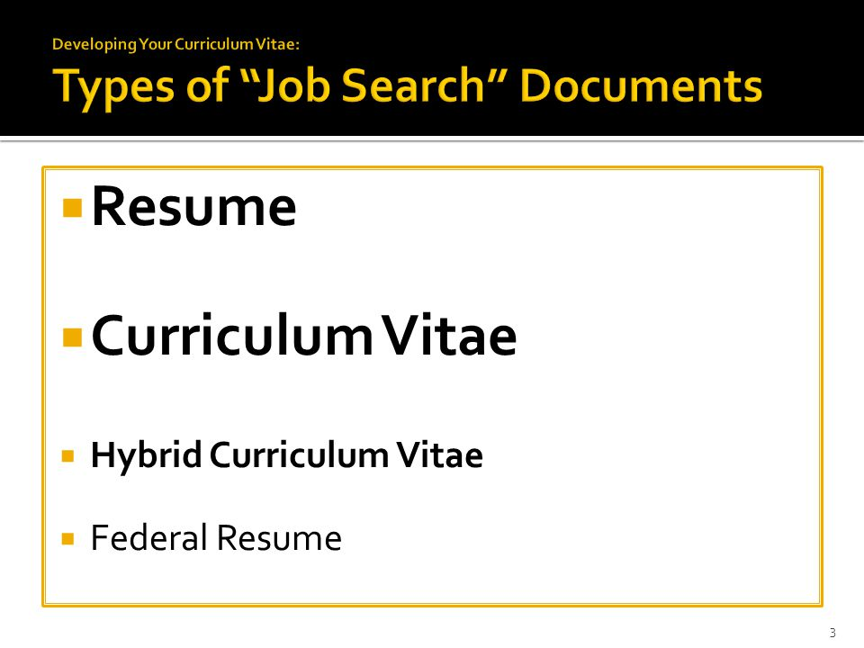  Resume  Curriculum Vitae  Hybrid Curriculum Vitae  Federal Resume 3