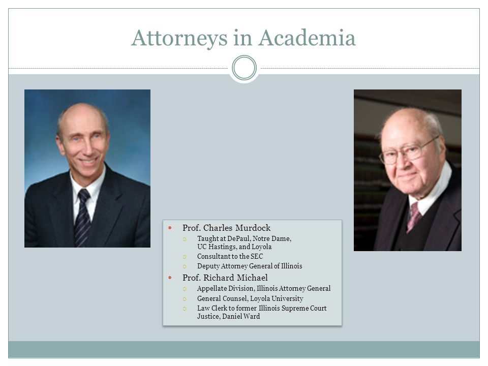 Attorneys in Academia Prof.