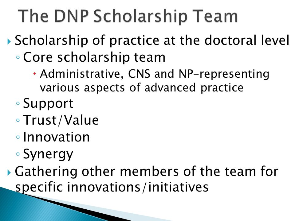 ◦ Michigan DNP Network ◦ Textbook: The DNP Scholarly Project: A Framework for Success ◦ Planning committees for national DNP conference ◦ Planning for regional DNP efforts ◦ Journal Articles