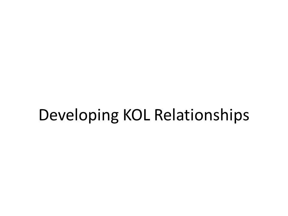 Developing KOL Relationships