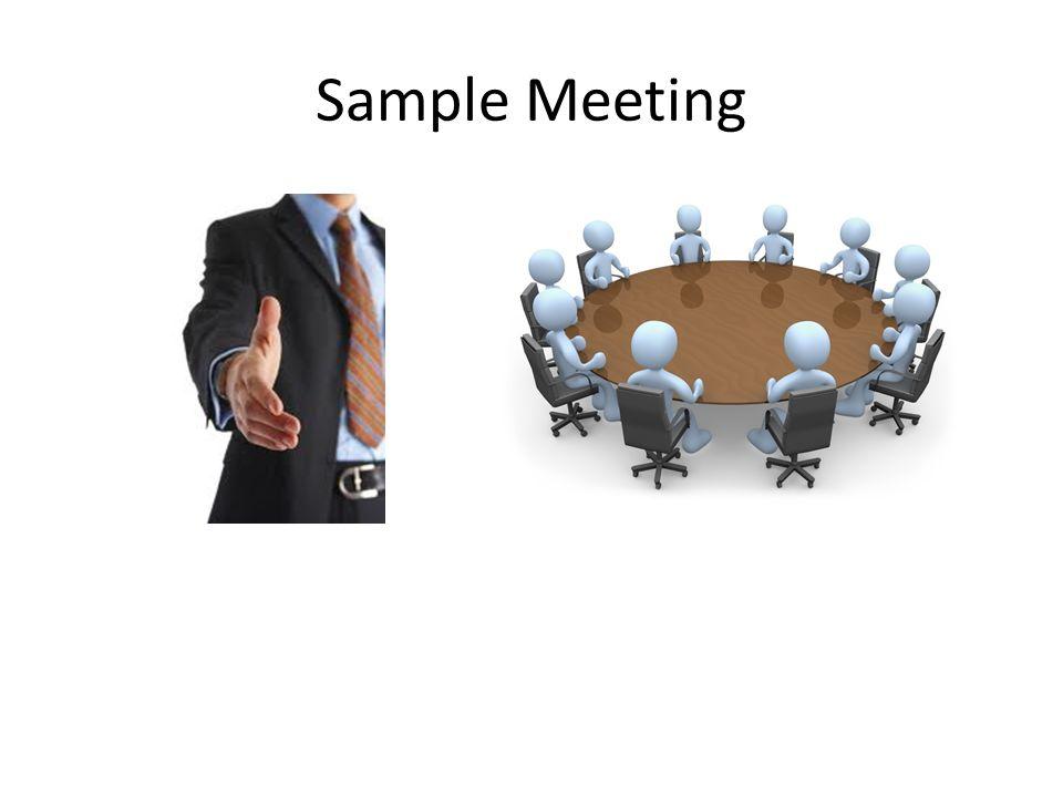 Sample Meeting