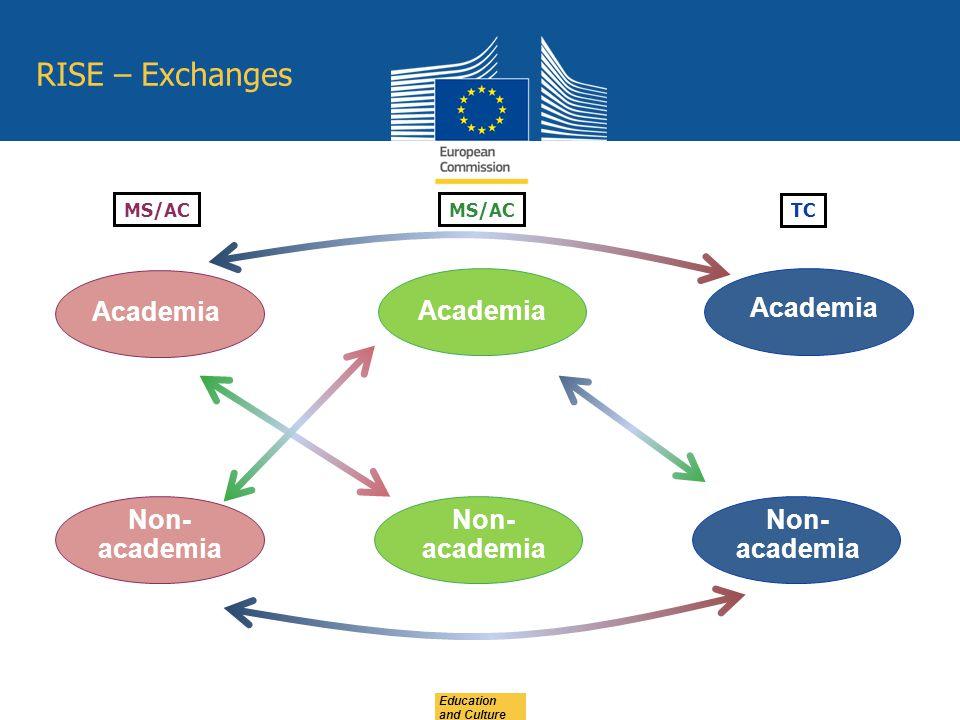 Non- academia Academia MS/AC TC RISE – Exchanges