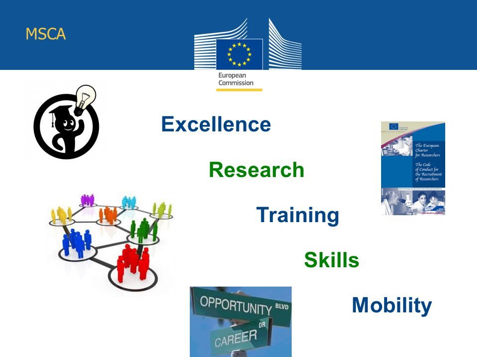 Excellence Research Training Skills Mobility Education and Culture MSCA