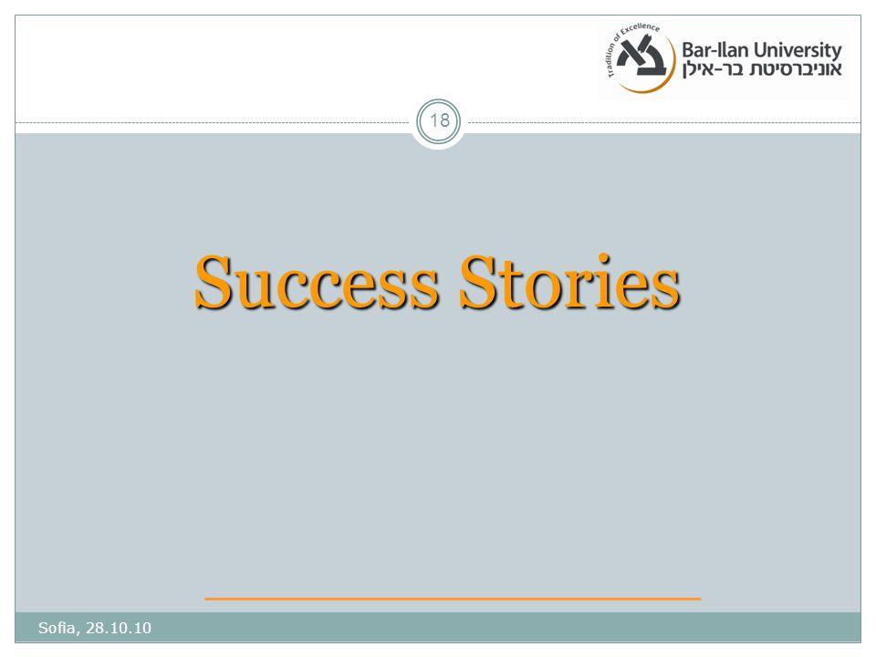 Success Stories Sofia, 28.10.10 18