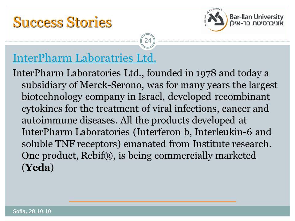 Success Stories InterPharm Laboratries Ltd.