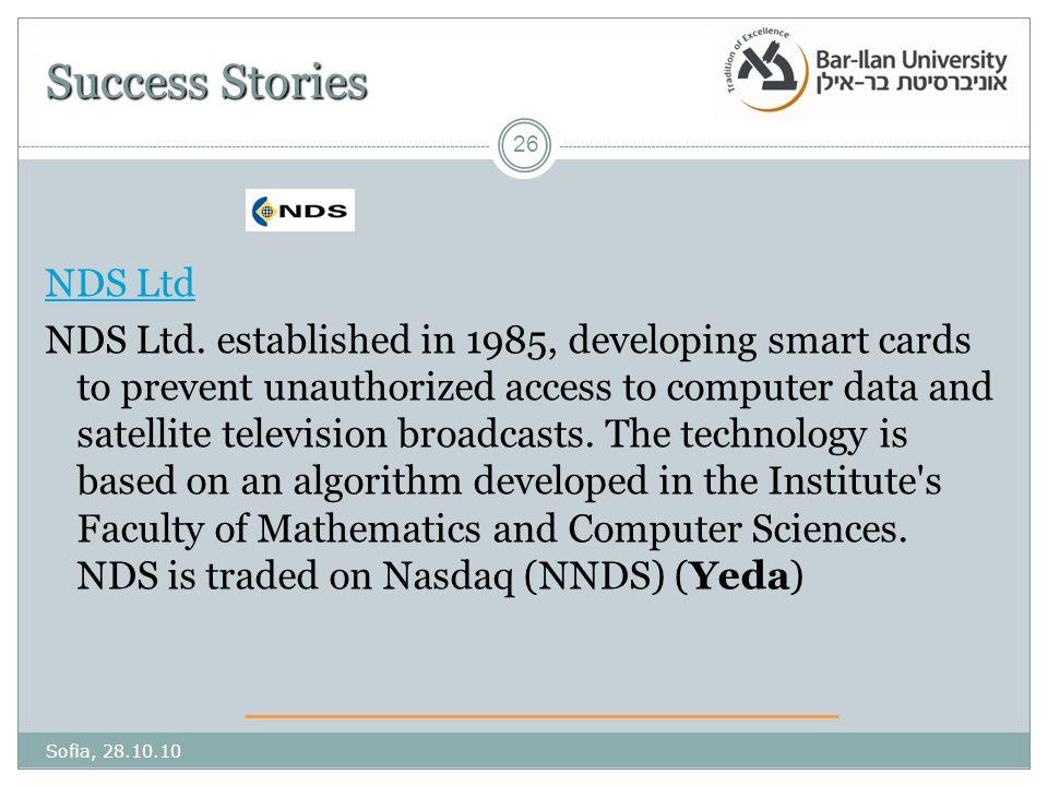 Success Stories NDS Ltd NDS Ltd.