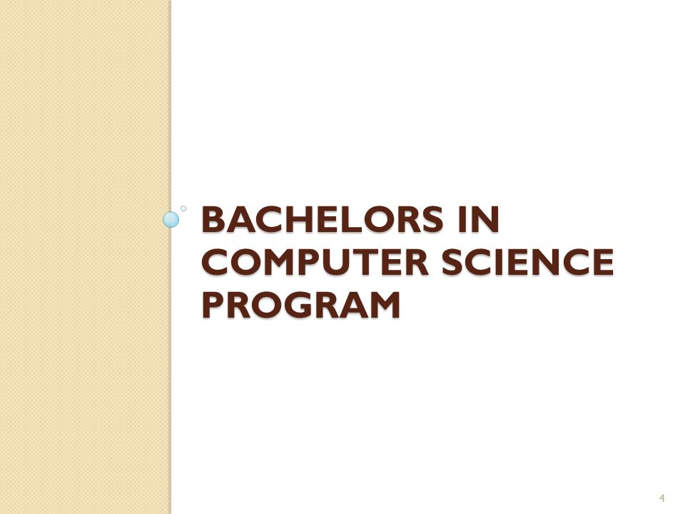 BACHELORS IN COMPUTER SCIENCE PROGRAM 4