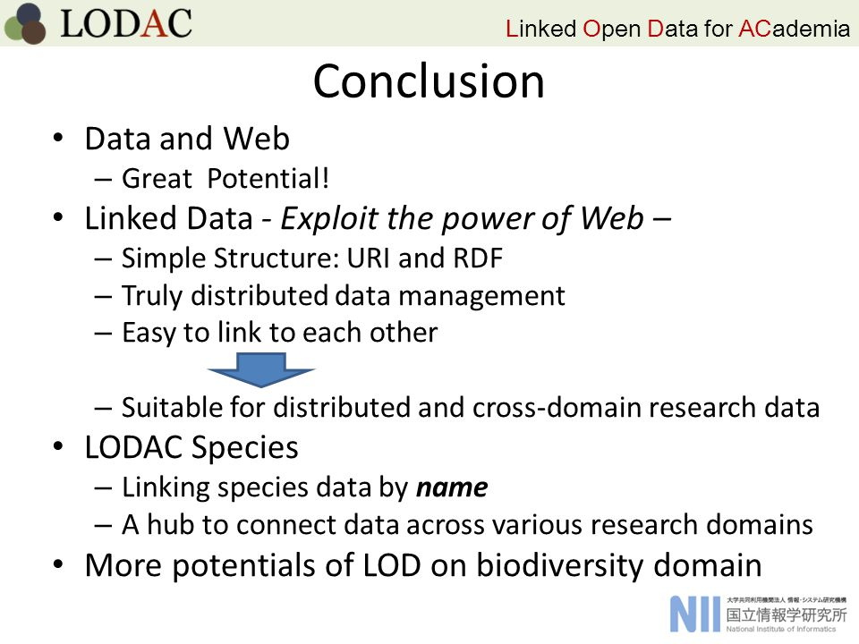 Linked Open Data for ACademia Conclusion Data and Web – Great Potential.