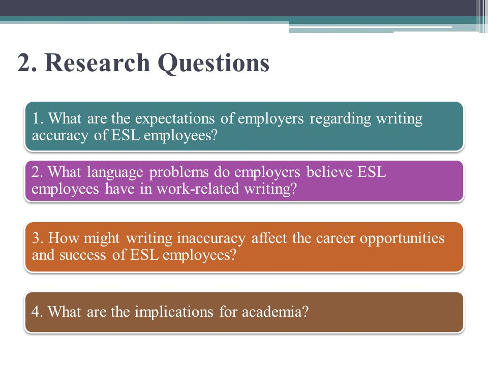 2. Research Questions 1.