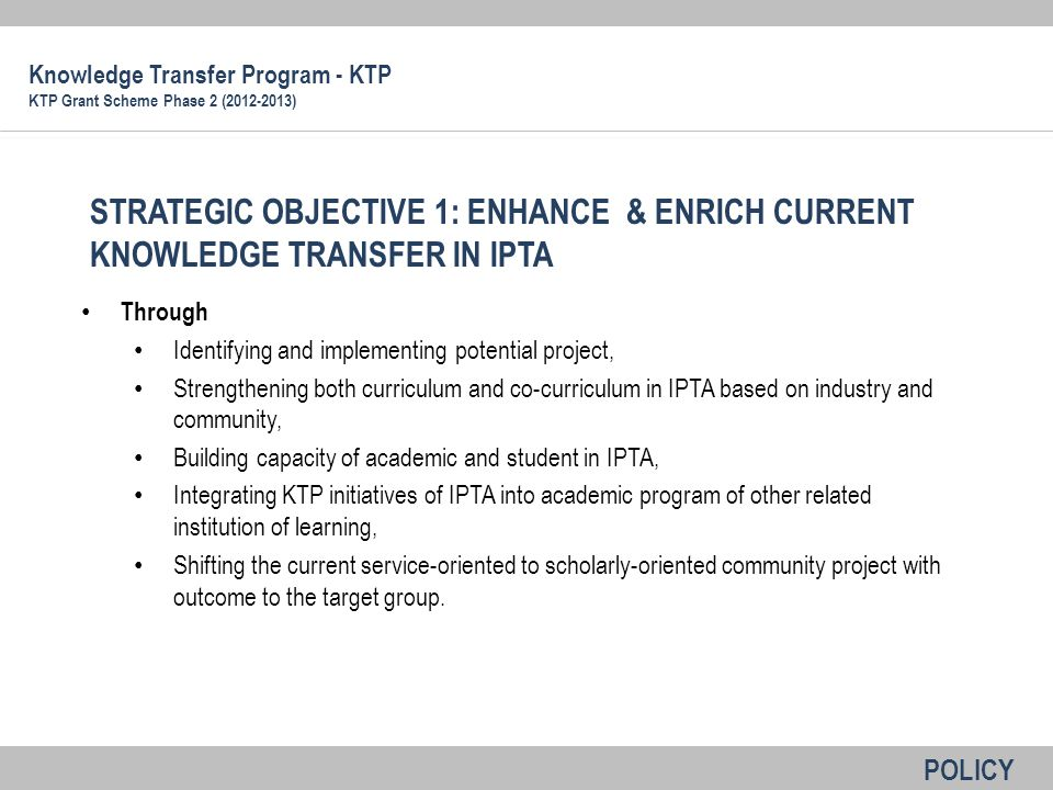 Through Identifying and implementing potential project, Strengthening both curriculum and co-curriculum in IPTA based on industry and community, Build