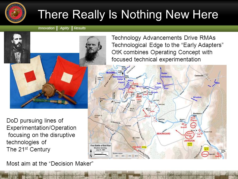 """Innovation Agility Results There Really Is Nothing New Here Technology Advancements Drive RMAs Technological Edge to the """"Early Adapters"""" OtK combines"""