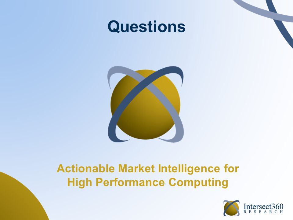 Questions Actionable Market Intelligence for High Performance Computing