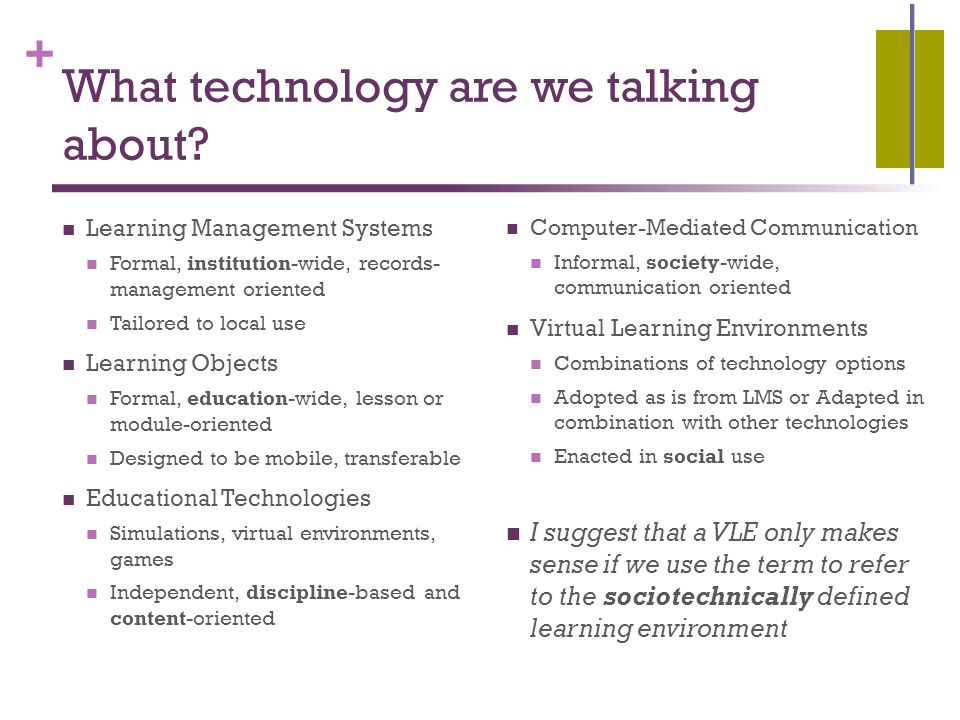 + What technology are we talking about.