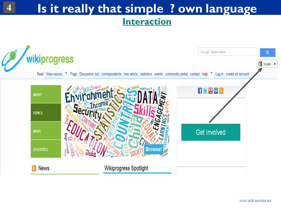Rubric www.ecb.europa.eu Is it really that simple own language Interaction 4