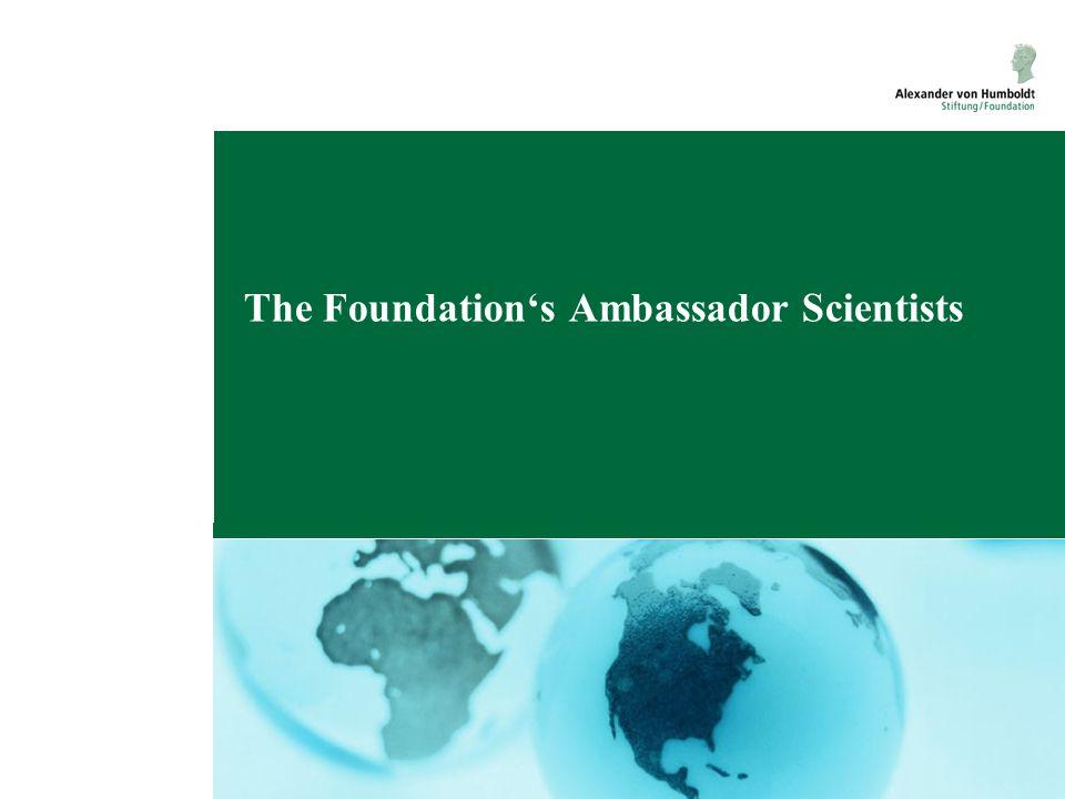 The Foundation's Ambassador Scientists