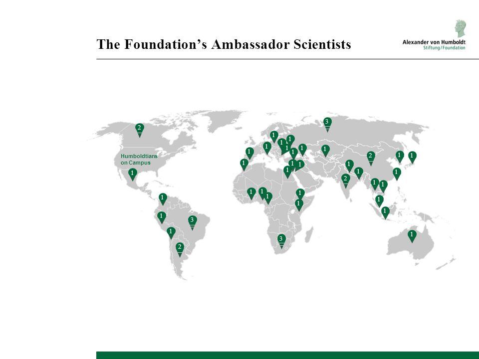 1 1 1 1 1 1 1 1 1 1 1 1 1 1 1 1 1 1 Humboldtians on Campus The Foundation's Ambassador Scientists 1 1 2 1 1 1 2 2 1 2 1 3 1 1 1 1 1 1 1 3 3
