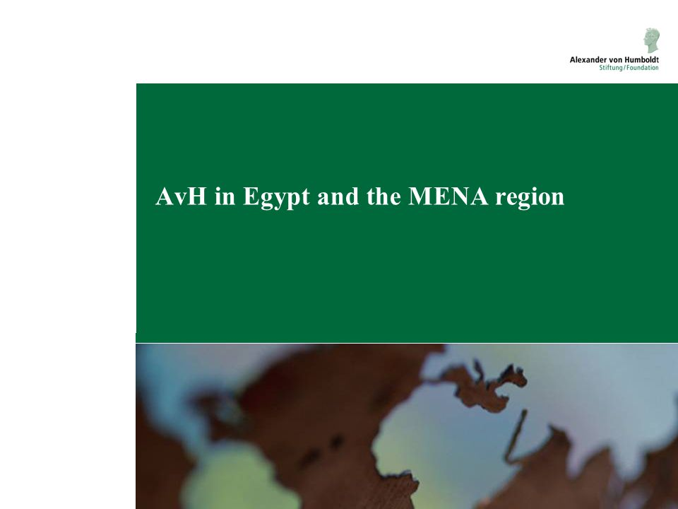 AvH in Egypt and the MENA region