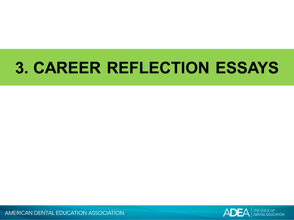 3. CAREER REFLECTION ESSAYS