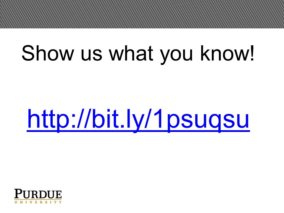 Show us what you know! http://bit.ly/1psuqsu