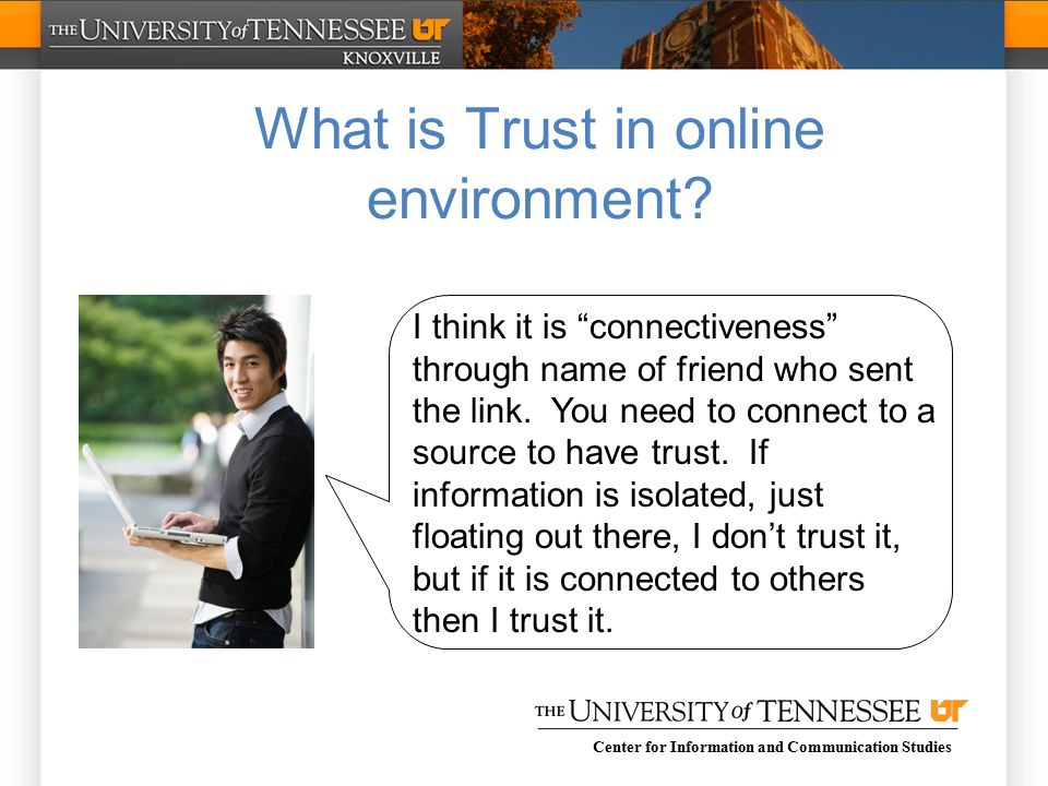 Center for Information and Communication Studies I think it is connectiveness through name of friend who sent the link.