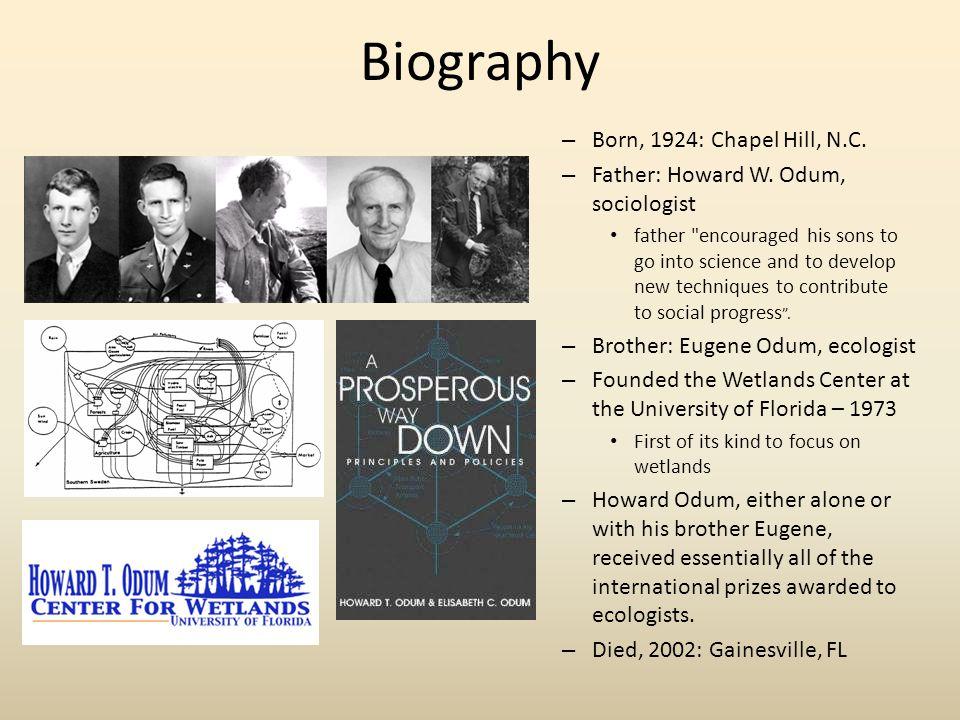Academia 1947 - B.Sc.Zoology, UNC Chapel Hill Main interest was ornithology 1950 - Ph.D.