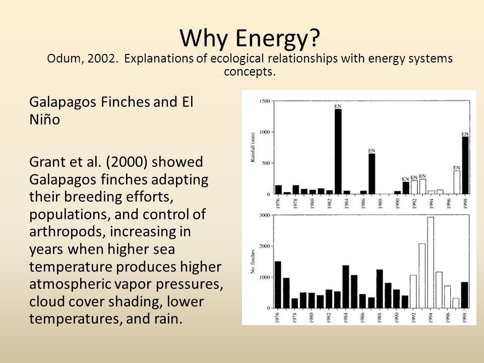 Galapagos Finches and El Niño Grant et al.