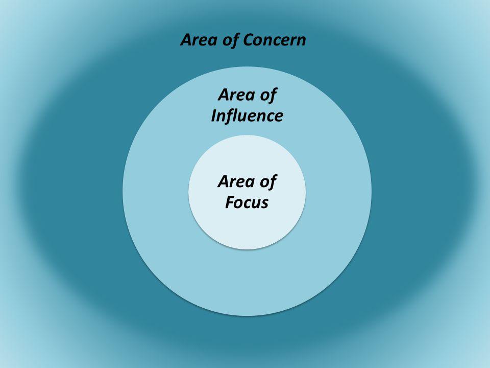 Area of Concern Area of Influence Area of Focus Area of Concern