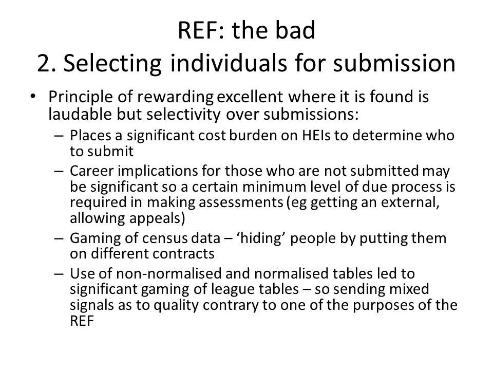 REF: the bad 2.