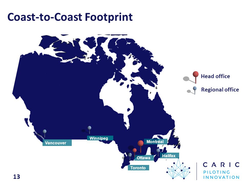 Coast-to-Coast Footprint Toronto Ottawa Montréal Head office Regional office Halifax Winnipeg 13 Vancouver