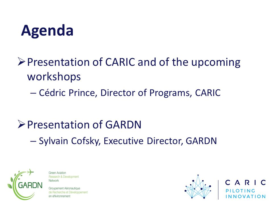 Thank you! To register to the Workshops: www.caric.cawww.caric.ca Funding partner: