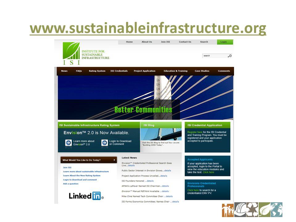 www.sustainableinfrastructure.org 7