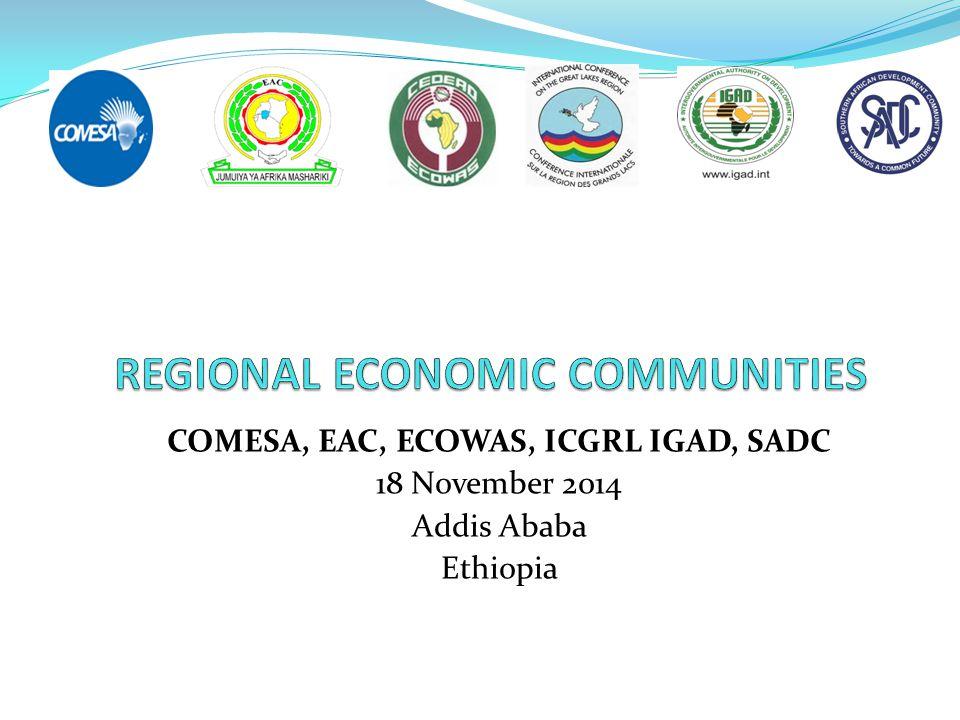 COMESA, EAC, ECOWAS, ICGRL IGAD, SADC 18 November 2014 Addis Ababa Ethiopia
