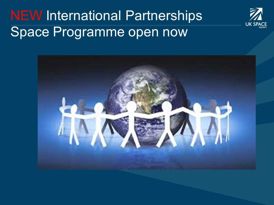 NEW International Partnerships Space Programme open now