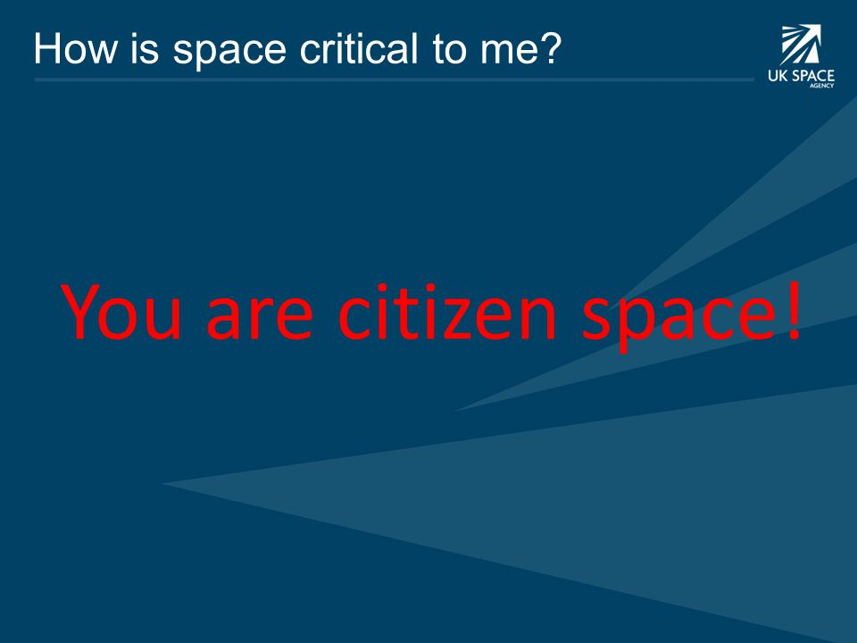 You are citizen space!