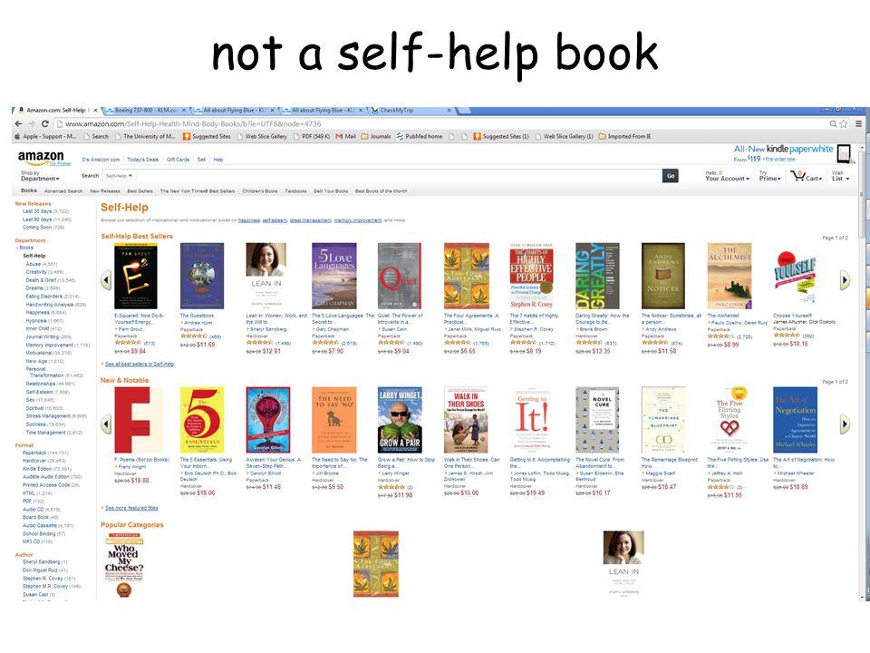not a self-help book