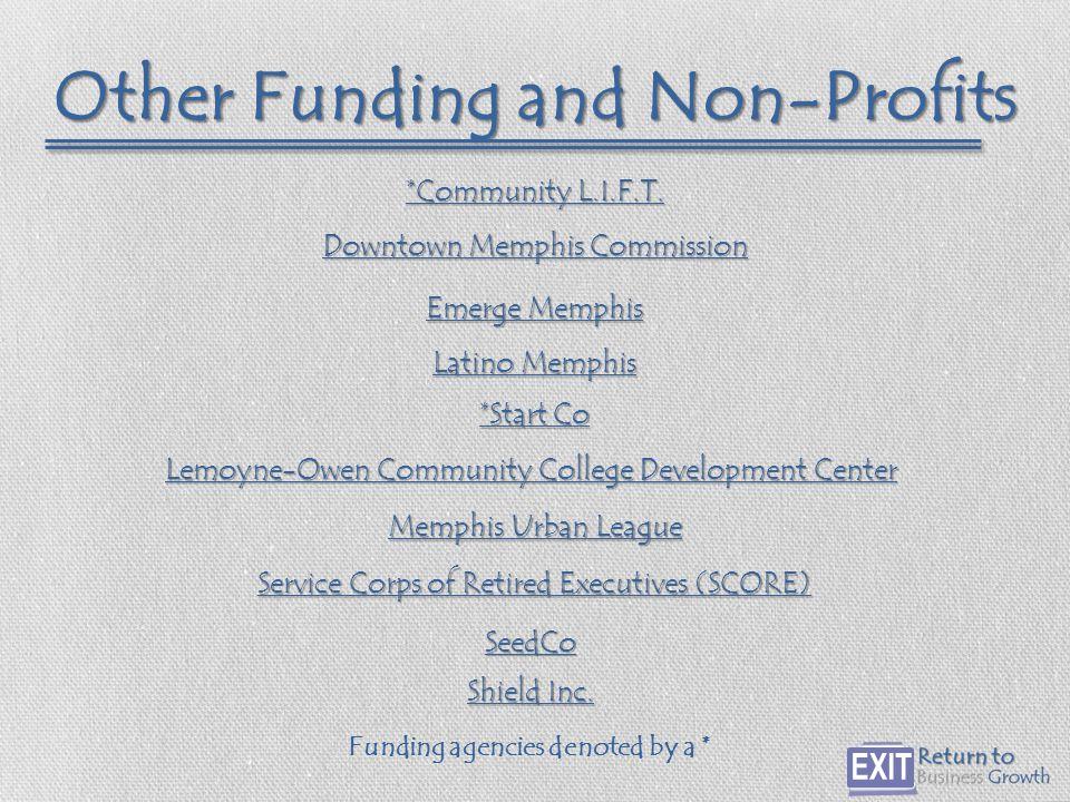 Other Funding and Non-Profits *Community L.I.F.T. *Community L.I.F.T.