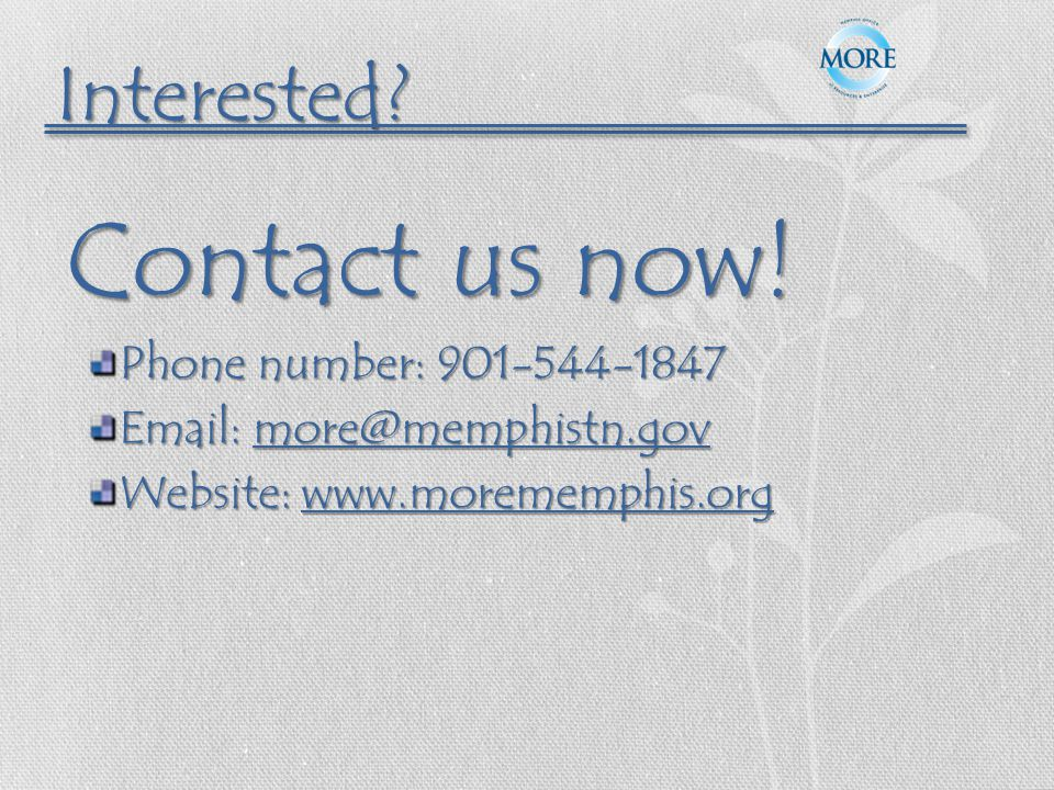 Contact us now.