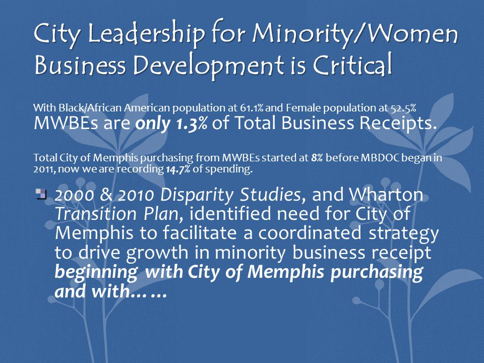 MORE MORE is an open door for minority and women business owners as well as entrepreneurs seeking to explore the various levels of business resources to start or advance their companies.