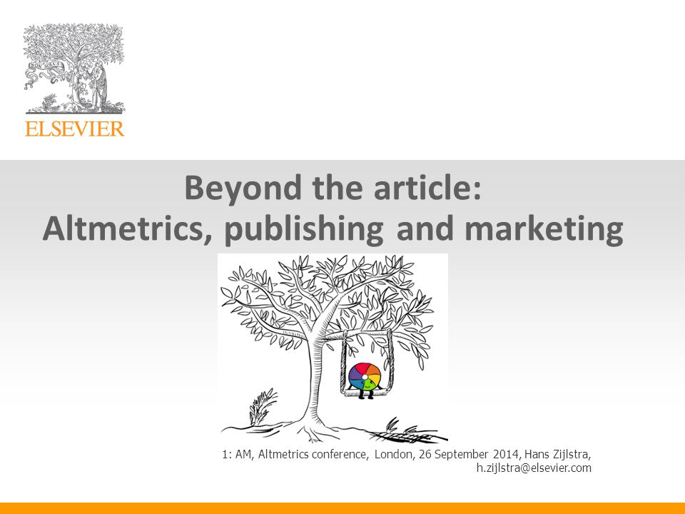 Altmetrics campaigns in STMJ - Altmetric.com Explorer used for internal analysis and e.g.