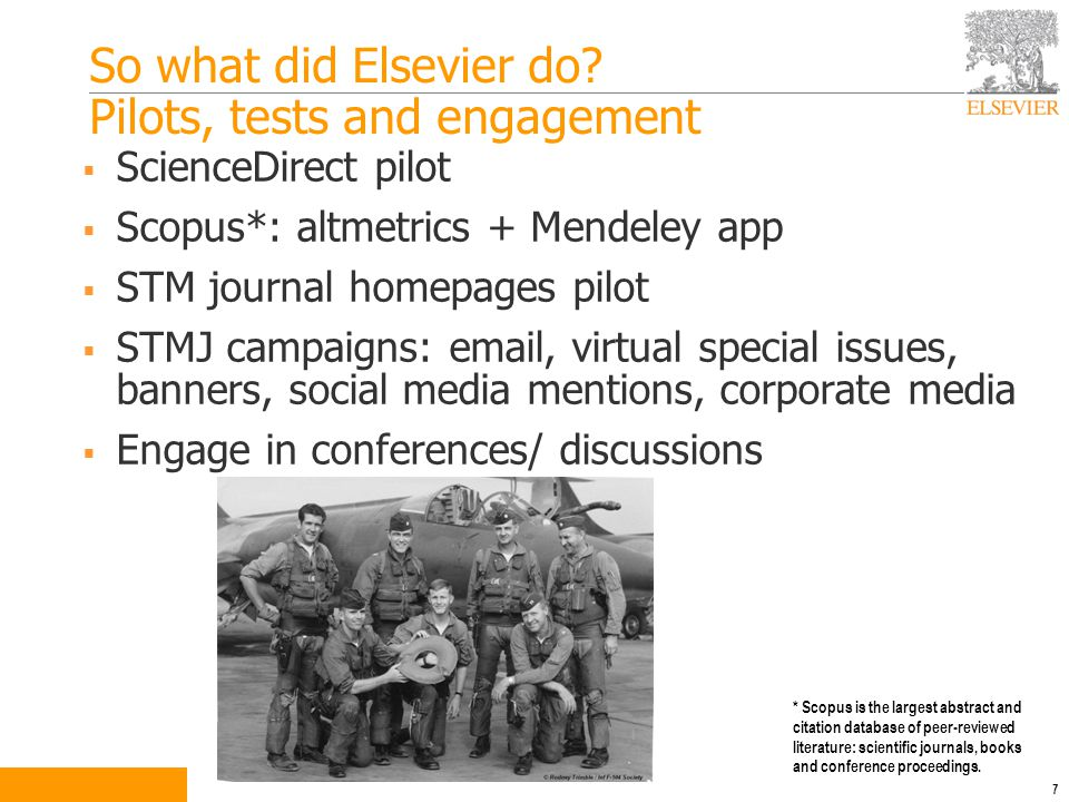 So what did Elsevier do.