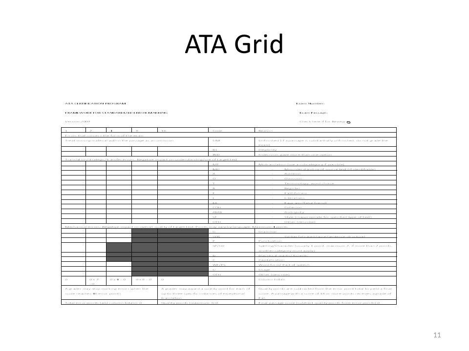 ATA Grid 11