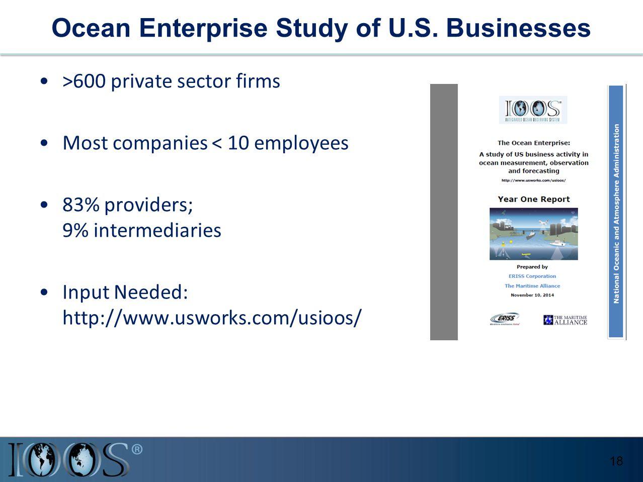 Ocean Enterprise Study of U.S.