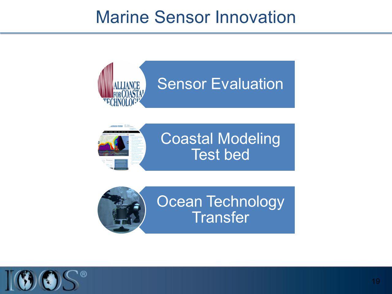 Marine Sensor Innovation 19 Sensor Evaluation Coastal Modeling Test bed Ocean Technology Transfer