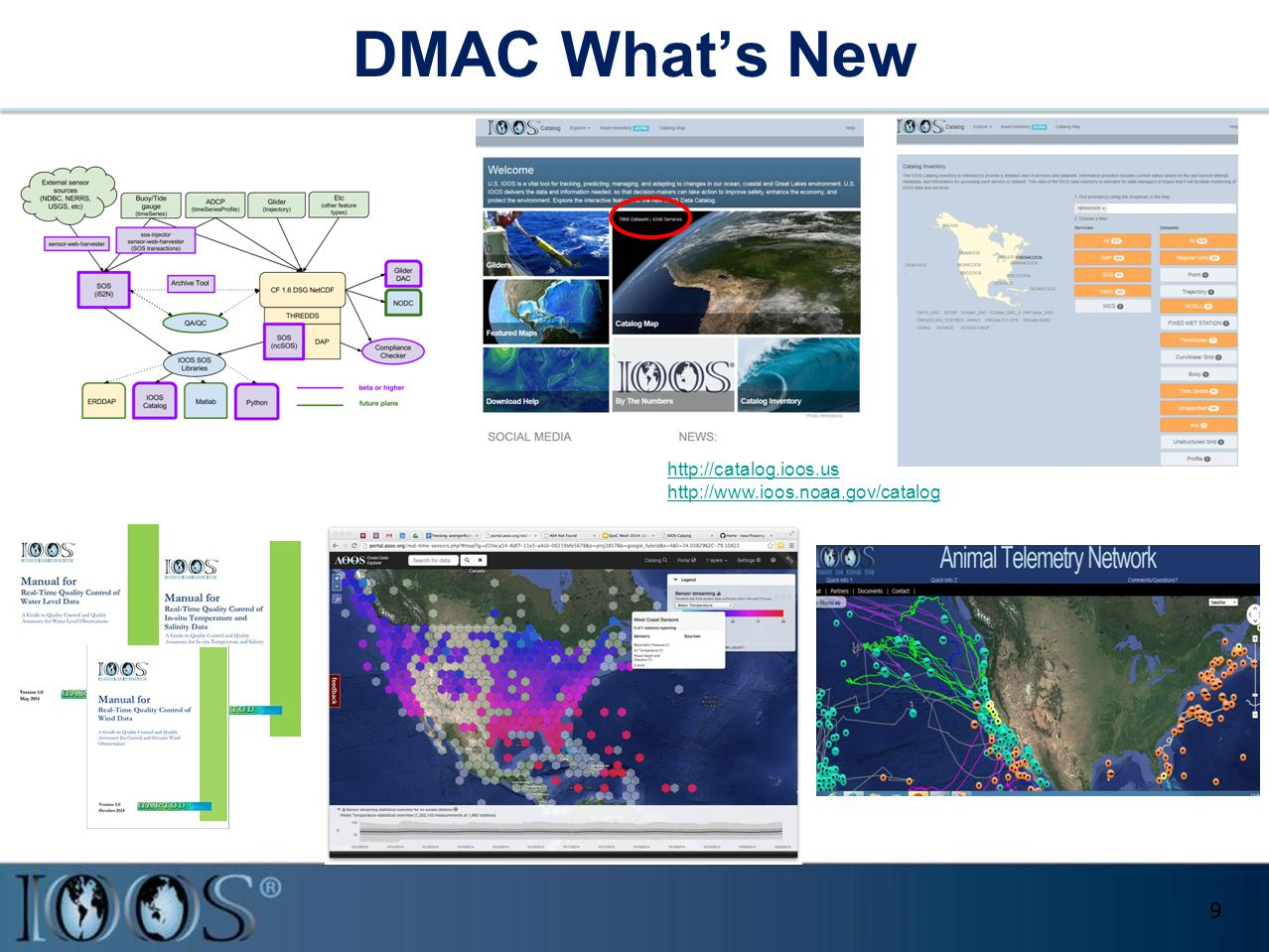 DMAC What's New 9 http://catalog.ioos.us http://www.ioos.noaa.gov/catalog