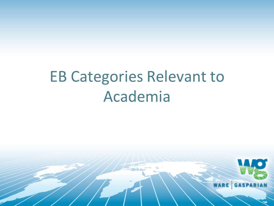EB Categories Relevant to Academia