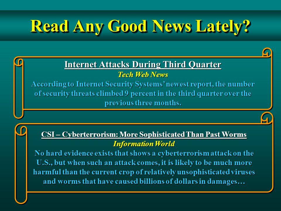 Read Any Good News Lately.
