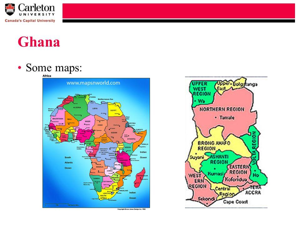 Ghana Some maps: