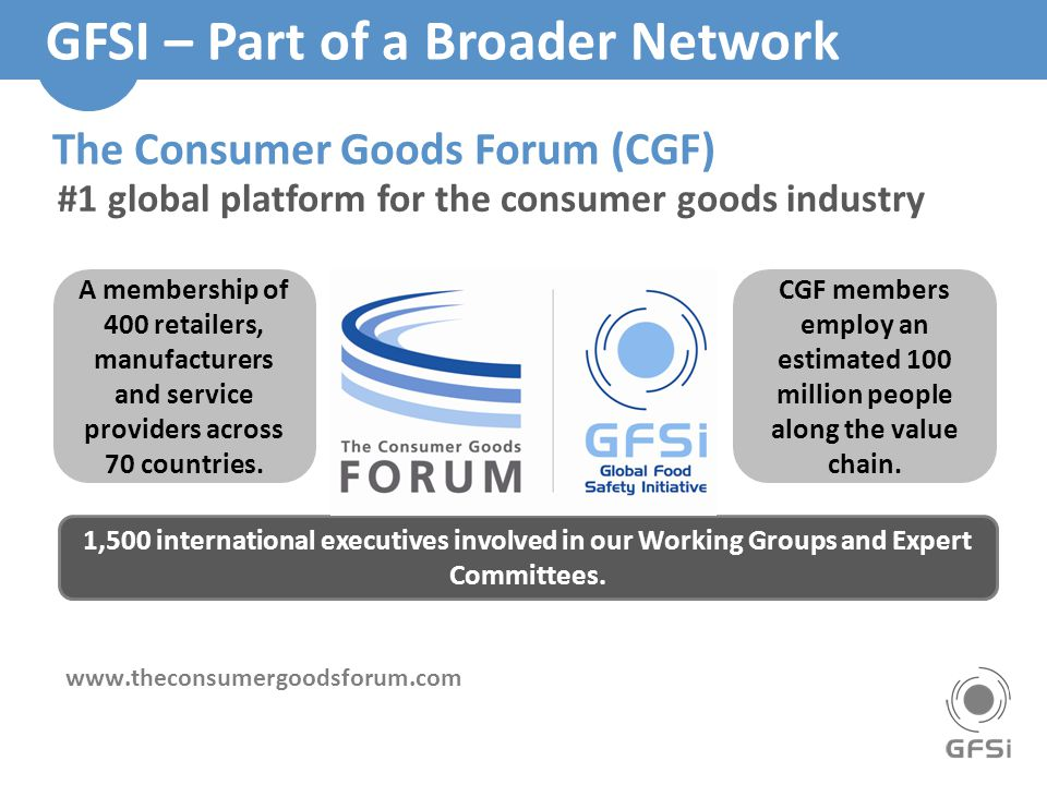 GFSI – Part of a Broader Network
