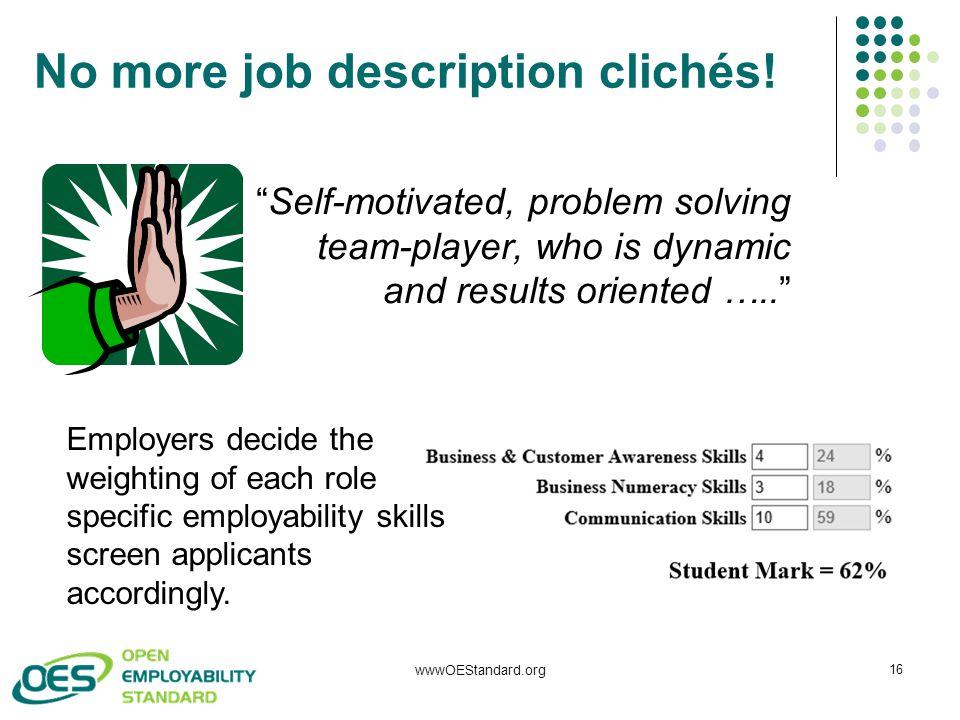 No more job description clichés.